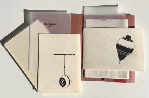 """Imatge del llibre d'artista """"Treballs manuals"""" de Sebi Subirós, pierre d. la i Rita Andreu"""