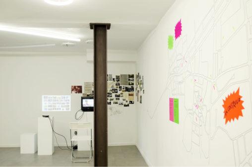 """Vista de l'exposició """"Geografies variables de la memòria"""""""